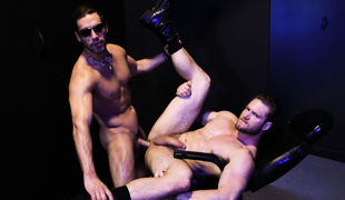 The scene instigates with Ace way alone wearing just a pair of boots and a jockstrap looking forward to for some action in the act of love club playro