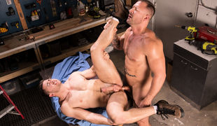 Derek Bolt is making detailed measurements in the workshop when sparks fly among him and Austin Wolf
