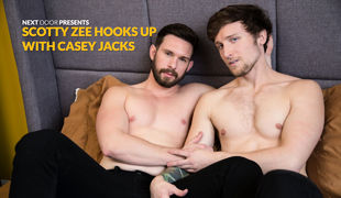 Beginner Casey Jacks is a Bay Area guy with a great attitude and a cute little ass. Immediately sparks are flying between him and Scotty Zee, as Scott