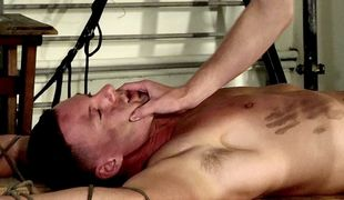 Theo gets his first taste of cock as Aiden uses his mouth and dick to get off