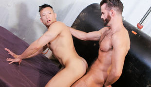 Sensitive untamed therapist Brendan Patrick has a therapeutic fuck session with untamed Asian hardbody Jessie Lee