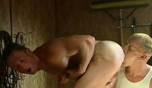 Muscle gay licked by blond boyfriend