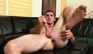 College Dudes -  Brad Campbell Busts A Nut