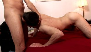 Hot rent boy blows old cock like a pro
