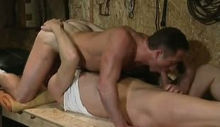 Gay hunks suck cocks in 69 pose