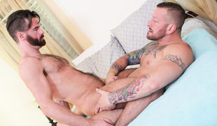 Stepdad Hugh Hunter is in love with stepson Brendan Patrick, and when the two are finally alone at home, Hugh seduces the hairy younger man