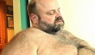 Bear mature gay enjoys oral sex