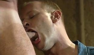 Hot gay boy throats appetizing cock