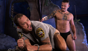 Officer Kirk Cummings was no match for pervy hooligan Max Cameron
