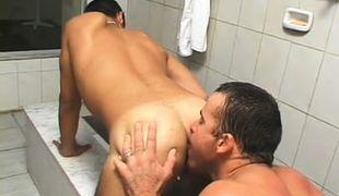 Gay latino shower fucking action in 3 episode