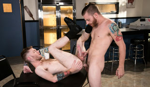 Seamus O'Reilly plows up in a diner with Sebastian Keys