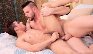 It's Nick Sterling's bend over for a dare, Roman Todd states the fact that Armond Rizzo has a huge trample on Nick