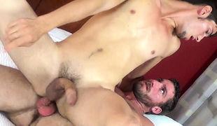 Corbin throws Elliott around the Norfolk hotel bed like he's some kind of rag girl
